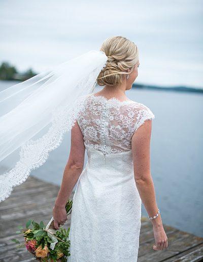Bröllopsfrisyr med slöja